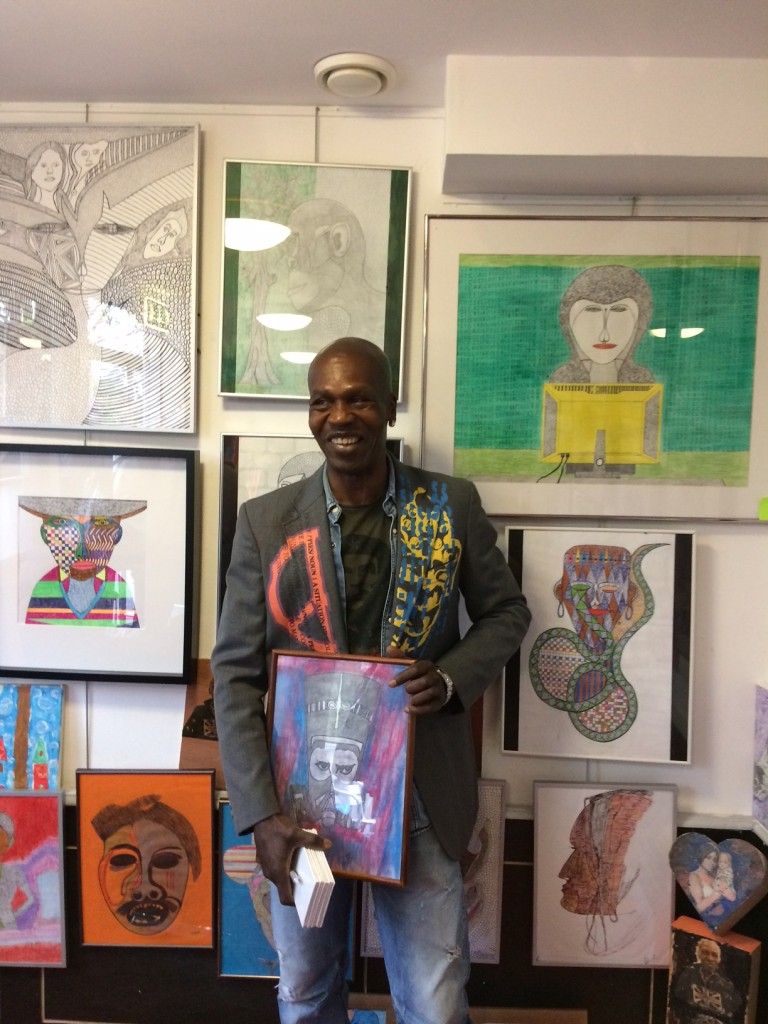 Rainbow Soulclub's Harold Kensmil at his exhibition at Ondro Bong