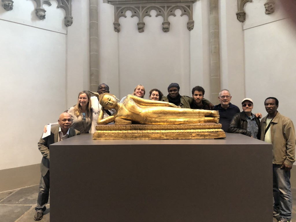 Rainbow Soulclub on a field trip to the Nieuwe Kerk, with David, Elena, Sena, Anne, Saskia, Clifton, Abdul, George, Patrick, Anthony